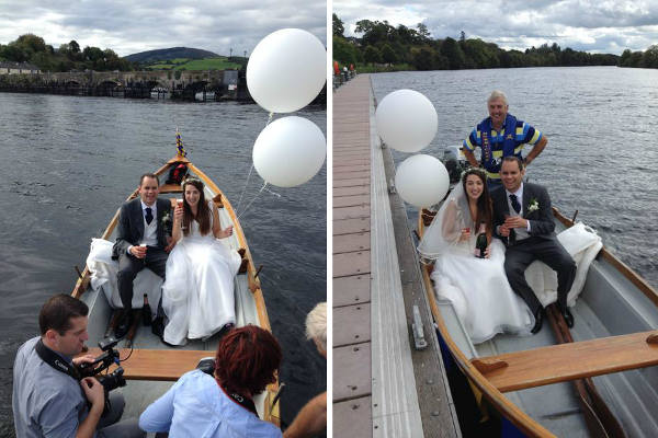 Boat trip to wedding